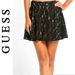 NWT Guess Floral Lace Circle Skirt